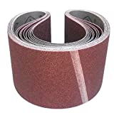 10 Stück Klingspor Schleifband LS307X | 100 x 1000 mm | z.B. für Fein GI 100 oder Promac 322BE1 Bandschleifer | Körnung nach Wahl (80)