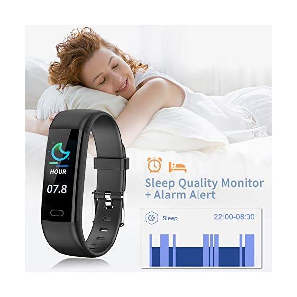 Pulsera Actividad - Reloj Inteligente Monitor de Ritmo Cardíaco Impermeable Fitness Trackers con Monitor de sueño… 5