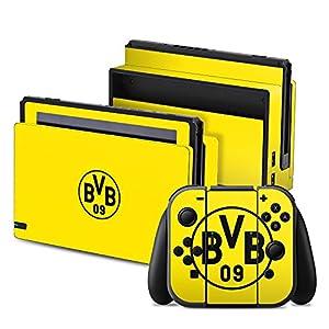 DeinDesign Nintendo Switch Folie Skin Sticker aus Vinyl-Folie Aufkleber Borussia Dortmund BVB Logo Gelb