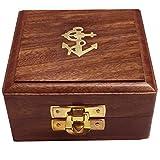 Hölzerne Schmuckschatulle, Aufbewahrungsbox, Vintage-Box, 3,5-Zoll-Inlay-Arbeits-Box, Ostern Tag / Muttertag / Karfreitag Geschenk