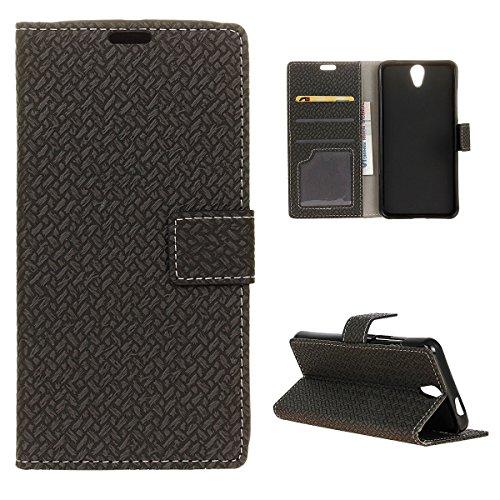 Banath Hülle Lederhülle für Lenovo Vibe S1 Lite, Flip Cover mit[Magnetverschluss][Stoßfest][Kreditkarten Slot] Handyzhülle(Schwarz)