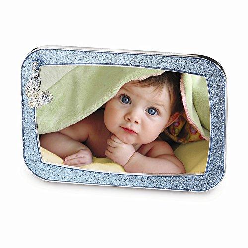Glitzer Booties Frame Foto Charme Rosa Blau Baby oder