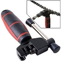 Per bicicletta attrezzi per riparazione rivetto catena Breaker Splitter & # xff0b; Catena bicicletta scooter Gear Rondella pulizia Scrubber spazzola strumento di pulizia per catena, 1