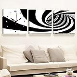 La stanza da letto moderna semplice di verniciatura della decorazione della stanza da letto la camera da letto quadrata senza pittura dipinta murale della parete ( Colore : Bianco e nero , dimensioni : 60*60 cm )