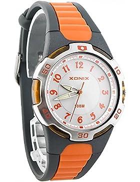 Analoge XONIX Armbanduhr Unisex mit Hintergrundbeleuchtung WR100m nickelfrei, QR/7