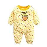 Baby Strampler Kleidung Neugeborenen Kinder Overall [59CM] Kleinkinder Jungen Mädchen Sommer Baby Strampler Kleidung Set Gelb Babykleidung