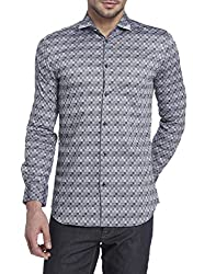 Jack & Jones Mens Casual Shirt (_5713444816612_Black_Large_)