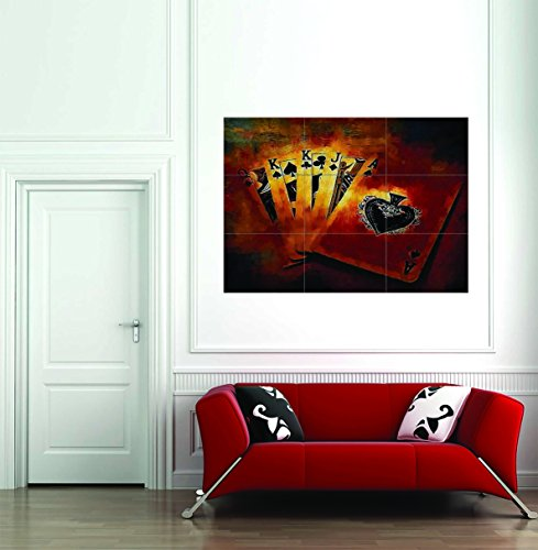 Winning Hand Poker Full House Giant Wall Art New Poster Print Picture (Art Picture House)