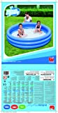 Bestway 51027B - Planschbecken Splash and Play 3-Ring- Pool, circa 183 x 33 cm (farblich sortiert) -