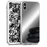 kwmobile Apple iPhone X Hülle - Handyhülle für Apple iPhone X - Handy Case in Silber spiegelnd