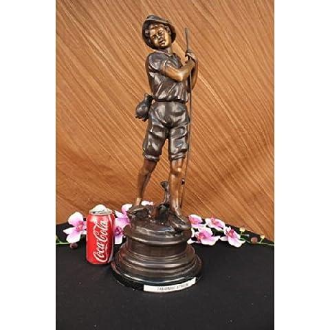 Escultura bronce estatua...Envío gratis...Firmado mármol Bird Boy Vintage Moreau Art Deco(74448-EU)Estatuas estatuilla estatuillas desnuda Oficina y Decoración del hogar Coleccionables Primer Día