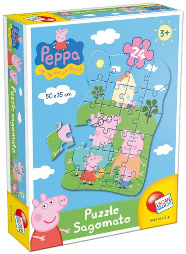Liscianigiochi 40667 - peppa pig puzzle sagomato 24 pezzi