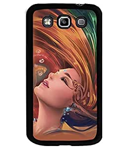 Fuson Premium Woman Painting Metal Printed with Hard Plastic Back Case Cover for Samsung Galaxy Grand Quattro i8550 i8552
