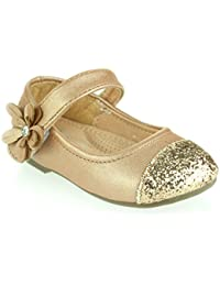 Amazon.co.uk: Gold - Ballet Flats / Girls' Shoes: Shoes & Bags
