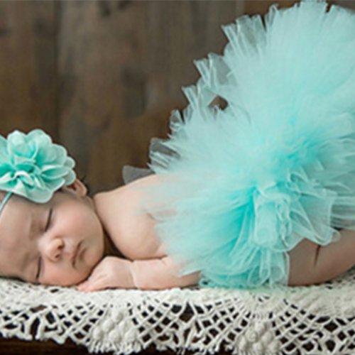 Nowear Nette Prinzessin Neugeborene Fotografie Props Baby-Kostüm-Ausstattung mit Blumen-Stirnband-Baby-Sommer-Kleid