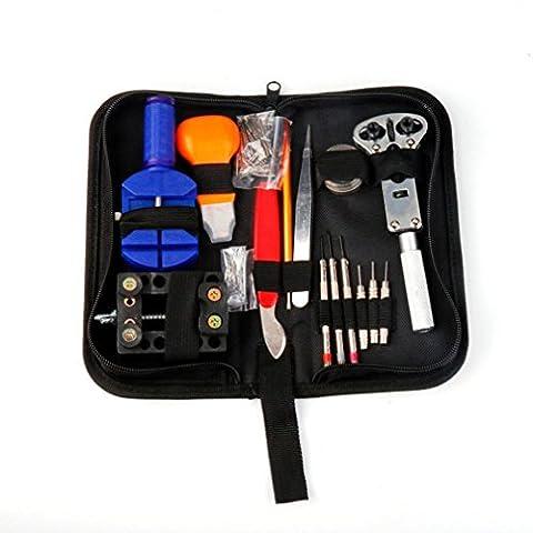 Igemy Deluxe 144pièces Kit d'outils de réparation pour montre avec coque Home Outil noir