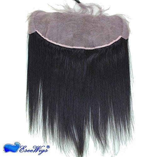 Eseewigs con Pizzo frontale, parte anteriore, chiusura frontale Brazilian Virgin Remy per capelli, con imbianchimento di nodi 10-50,80 (20