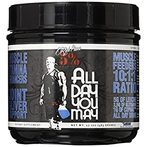 51EszsLCvxL. SS300  - 5% Nutrition - Rich Piana All Day You May, Blue Raspberry FID54323