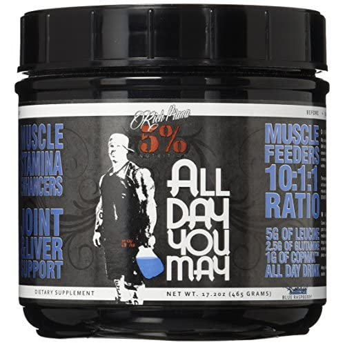 51EszsLCvxL. SS500  - 5% Nutrition - Rich Piana All Day You May, Blue Raspberry FID54323
