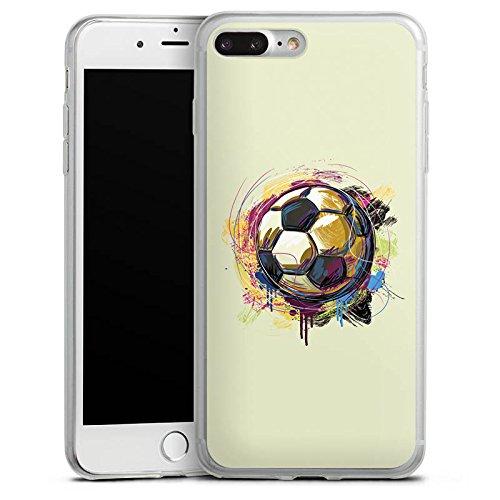 Apple iPhone 8 Slim Case Silikon Hülle Schutzhülle Fußball Sport Ball Silikon Slim Case transparent
