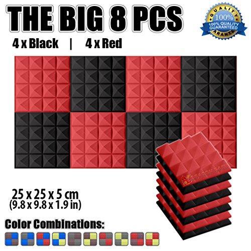 super-dash-8-lot-de-25-x-25-x-5-cm-pyramid-acoustique-home-studio-insonorise-traitement-accessoires-
