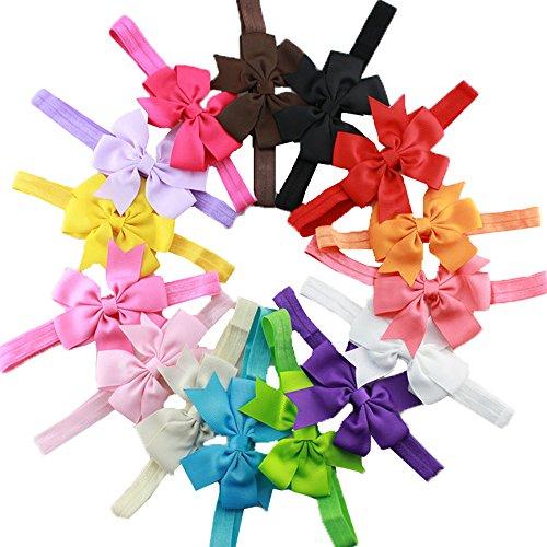 HABI 15 stk mehrfarbig Haarspange Haarschmuck Accessoire Fliege Schleife für Kinder Mädchen verschiedene Farben und (Diy Kostüme Kleinkind)