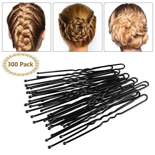 Brautschmuck Haarnadeln - 300pcs Bobby Pins Haarnadeln Schwarz Haarklammern Haarschmuck für Mädchen und Frauen - Braut-haar Pins