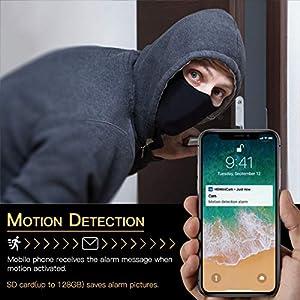 Mini Camara Espia Oculta Videocámara, CACAGOO 1080P HD WiFi Cámara 2.4Ghz Vigilancia Portátil Secreta Compacta con Detector de Movimiento IR Visión Nocturna, Camaras de Seguridad Pequeña