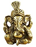 "Idol Collections Indian God Ganesha Figurine - Handmade Brass Statue - 2.8"" x 1.5"" x 1"""