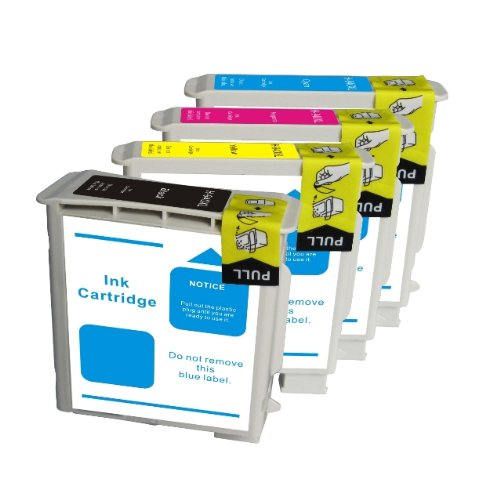 Compatibile HP10 & HP11 Cartucce per stampante HP Designjet 10PS 20PS 70 100, 100, 110, Business Inkjet, 1000, 1100, 1200 2200 2000c 2230 2250 2280 2600dn 2700 2600 2800, per stampante Inkjet cp1700 colore 2000c 2000cn 2500c 2500 cm, Officejet Pro K850 9100 9110 9120 9130 Set di 4 nero