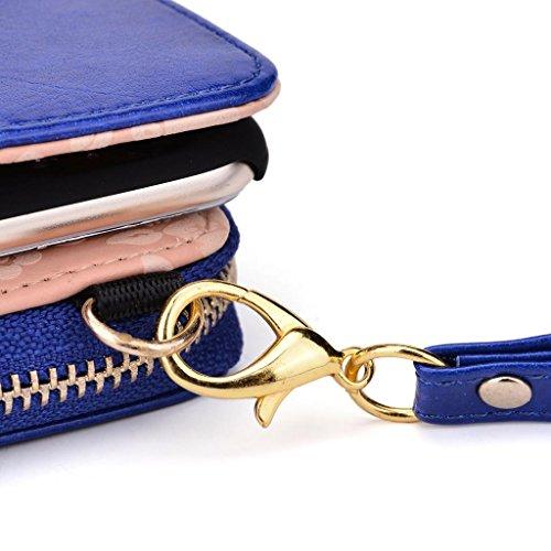 Kroo Pochette magnétique Coque rigide pour femme avec emplacements pour carte de crédit interne Slim Coque iPhone 6et conçu pour Apple iPhone 6Plus