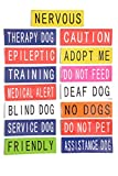 THERAPY DOG Blue Patch Pair (On Duty/Do Not Disturb) Use on Tactical Power Harness (Small 11cmx3cm)