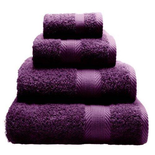 Catherine Lansfield Home 100% Cotton 450gsm Hand Towel, Plum