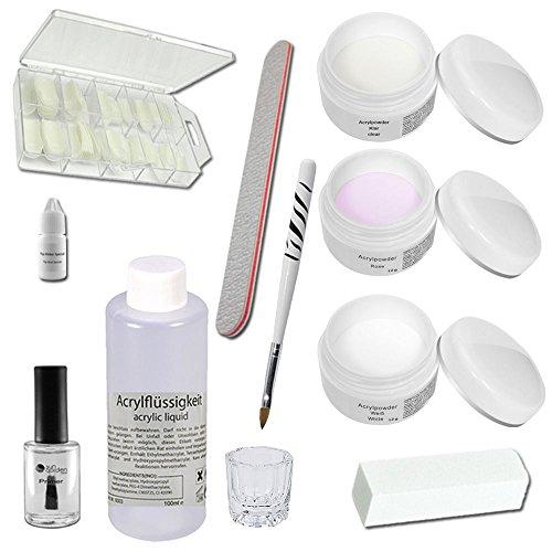Sun Garden Nails Kit Acrílico Set de introducción -Siena, Kit Acrilico, Acrilico, Kit de Arcyl, Polvo Acrilico, Liquido Acrilico, Accesorios de acrílico