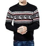 Batnott Herren Weihnachtspullover Beige Grün Weihnachten Wolle Pulli Shirt Kleidung Geschenk für Männer Langarm Christmas Casual Sweatshirt Xmas Party Outdoor Blau Schwarz XXL