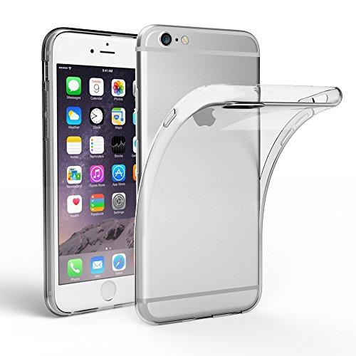 iPhone 6 6S Hülle Case, EasyAcc Dünn Crystal Clear Transparent Handyhülle Cover Soft Premium-TPU Durchsichtige Schutzhülle Backcover Slimcase für iPhone 6 6S