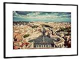 "artboxONE Poster mit Rahmen 60x40 cm ""St. Peter's Square, Piazza San Pietro in Vatican City"""