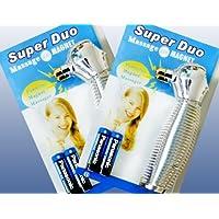 Preisvergleich für 2 x Massagegerät Super Duo, Akupressur Massage mit Magnet und Vibration