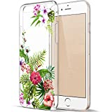 EGGPRO Funda iPhone 6S, Funda iPhone 6, Suave Claridad Transparente Anti-Choques TPU Silicona Protección Funda, Precioso Elegante Flores Patrón Cáscara para Apple iPhone 6 / 6S (Flores - 05)