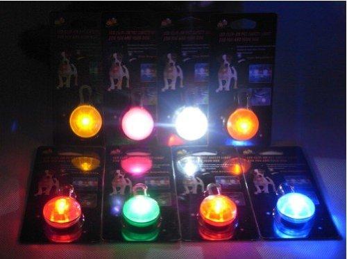 Zehui LED Hundeanhänger Blinklicht Halsbänder Licht Tierhalsband Leuchtanhänger Anhänger Rot - 3