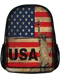 Luxburg ® Élégant Sac à dos pour école, sport, voyages - Drapeau USA