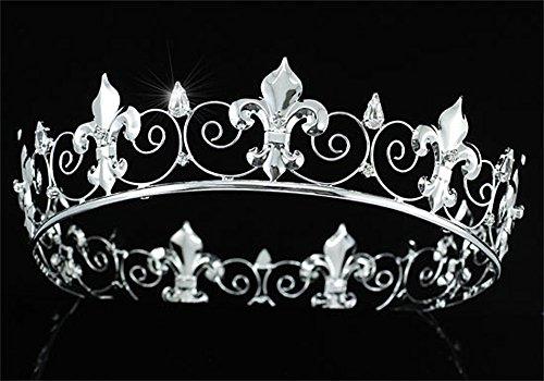 Imperial para hombre Medieval Fleur De Lis 5,08 cm Full Circle grande diseño De corona