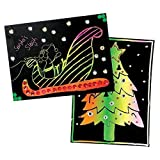 #5: SYGA Colorful Scratch Drawing Papers, 10 Sheets