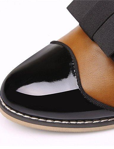 Chaussures Femme Shangyi - Mocassins - Bureau Et Travail / Formel / Décontracté - Pointu - Bas - Similicuir - Blanc / Orange Blanc