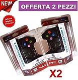 2 JOYSTICK WIRELESS COMPATIBILE PS3 SENZA FILI joypad USB controller VIBRAZIONE immagine