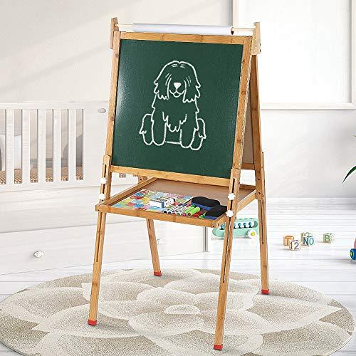 Cocoarm Staffelei Spieltafel Multifunktions Zweiseitiges Zeichenbrett Höhenverstellbar Standkindertafel Magnettafel Kindertafel Kinder