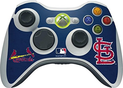 MLB St. Louis Cardinals Xbox 360 Wireless Controller Skin - St. Louis Cardinals- Alternate Solid Distressed Vinyl Decal Skin For Your Xbox 360 Wireless Controller by Skinit (Für Xbox Mlb-spiele)