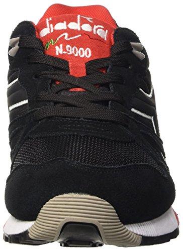 Diadora N9000 Nyl Ii, Chaussures mixte adulte noir/rouge