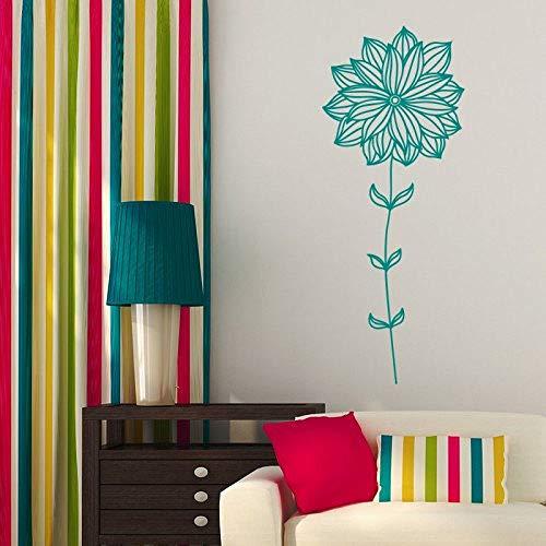 jiushizq Art Home Decor Flower Wall Sticker Decalcomania del Vinile Camera da Letto Soggiorno Nursery Design Creativo WW Red 57X142CM