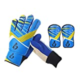 Prom-near Children Soccer Goalkeeper Sports Kinder/Jugendliche Basic Fußball Torwart/Spieler Handschuhe + Beinschutz S1016